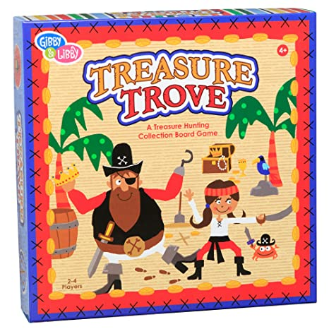 CR Gibson Pirate Treasure Educational Board Game for Kids
