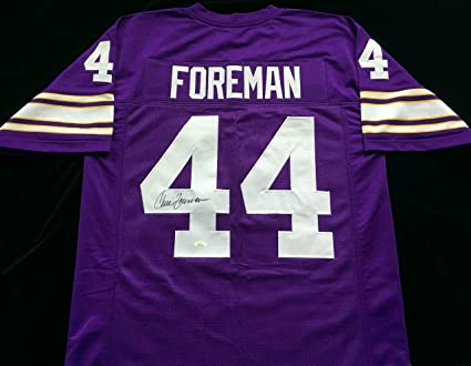 Chuck Foreman Signed Autographed Purple Football Jersey with JSA ...