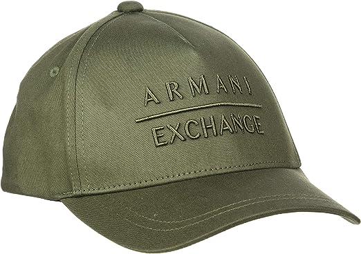 Armani Exchange Horizontal Logo Gorra de béisbol, Azul (Deep Depth ...