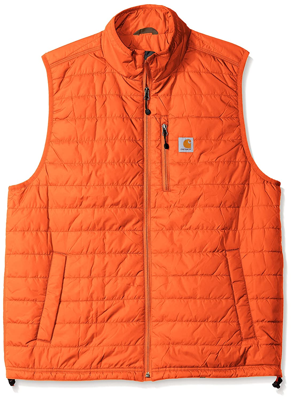 Carhartt メンズ 特大で長身用 Gilliam(ギリアム) ベスト B01BUJAORI  オレンジ(Blaze Orange) L