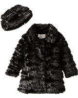 Widgeon Little Girls' Sequin Sparkle Coat with Hat