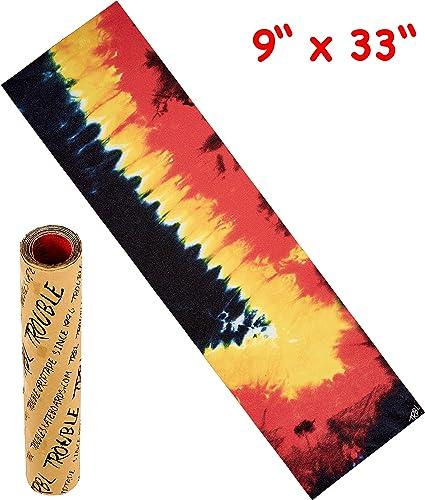 """Black Widow 9/"""" x 33/"""" Clear Skateboard Griptape//Grip Tape 1 sheet"""