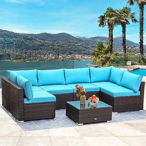 LayinSun 7 Piece Patio Furniture Sets