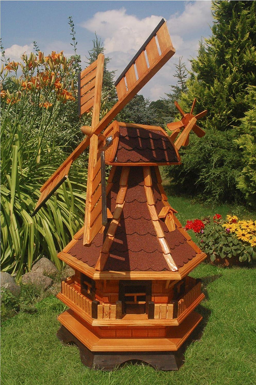 in rot 1,0 m Norddeutsche Windmühle++kugelgelagert+ für den Garten