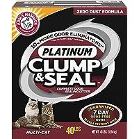 Arm & Hammer. Clump & Seal Platinum Litter, Multi-Cat, 40 Lbs