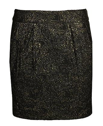 detailed look bfeb6 bd0dc Sienna Damen Mini Rock Schwarz/Gold 48325: Amazon.de: Bekleidung