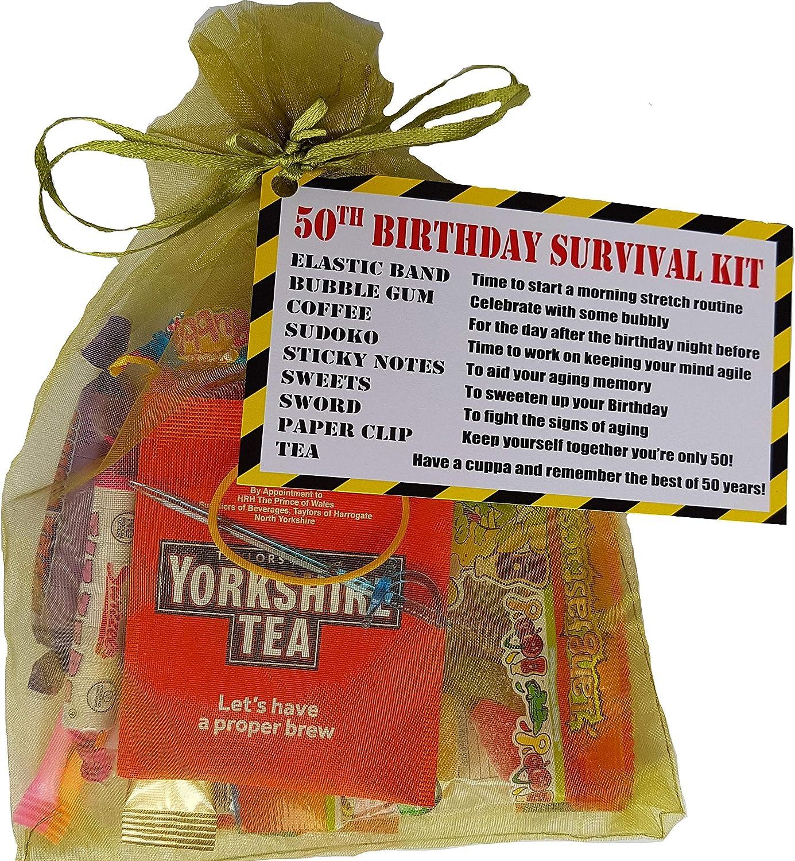 50th Birthday Survival Kit Ideas For Him