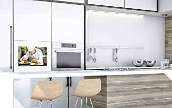 TV empotrable de Cocina Resistente al Agua Marco Blanco 54 cm (21 ...
