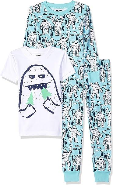 Boys/' 2-Piece Cotton Pajama Sleep Short Set 3 Variations