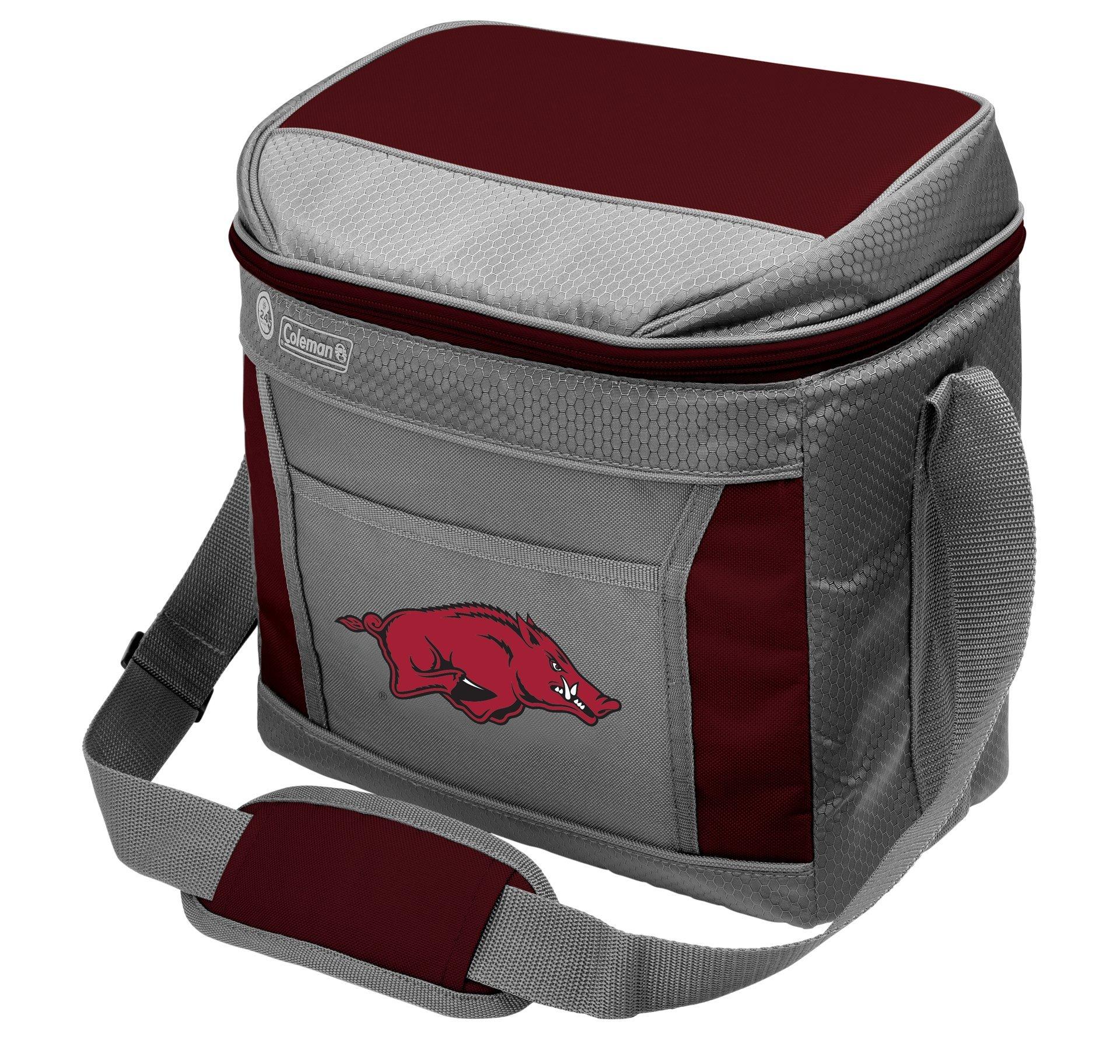 Coleman NCAA Soft-Sided Insulated Cooler Bag, 16-Can Capacity, Arkansas Razorbacks