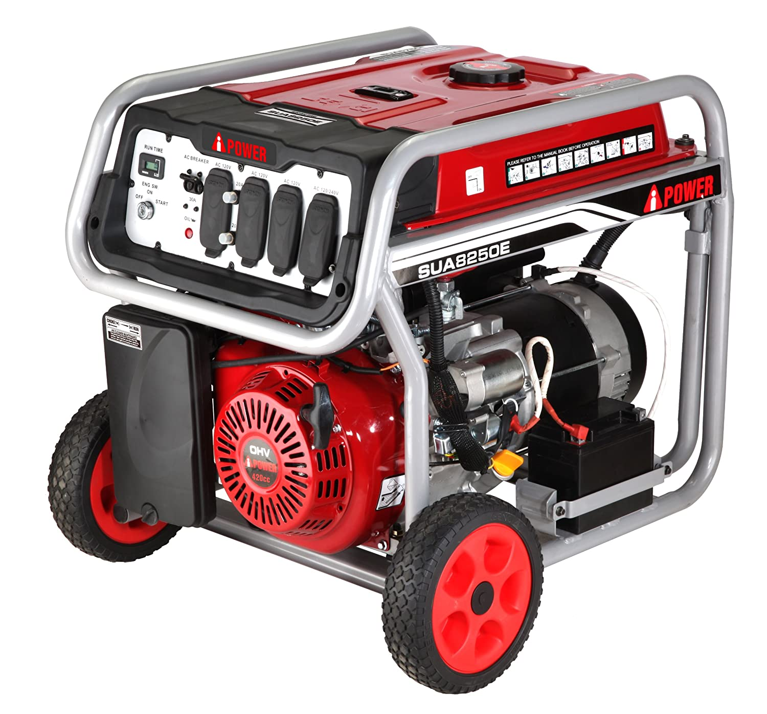 Amazon A iPower SUA8250E 8250W Gasoline Powered Portable