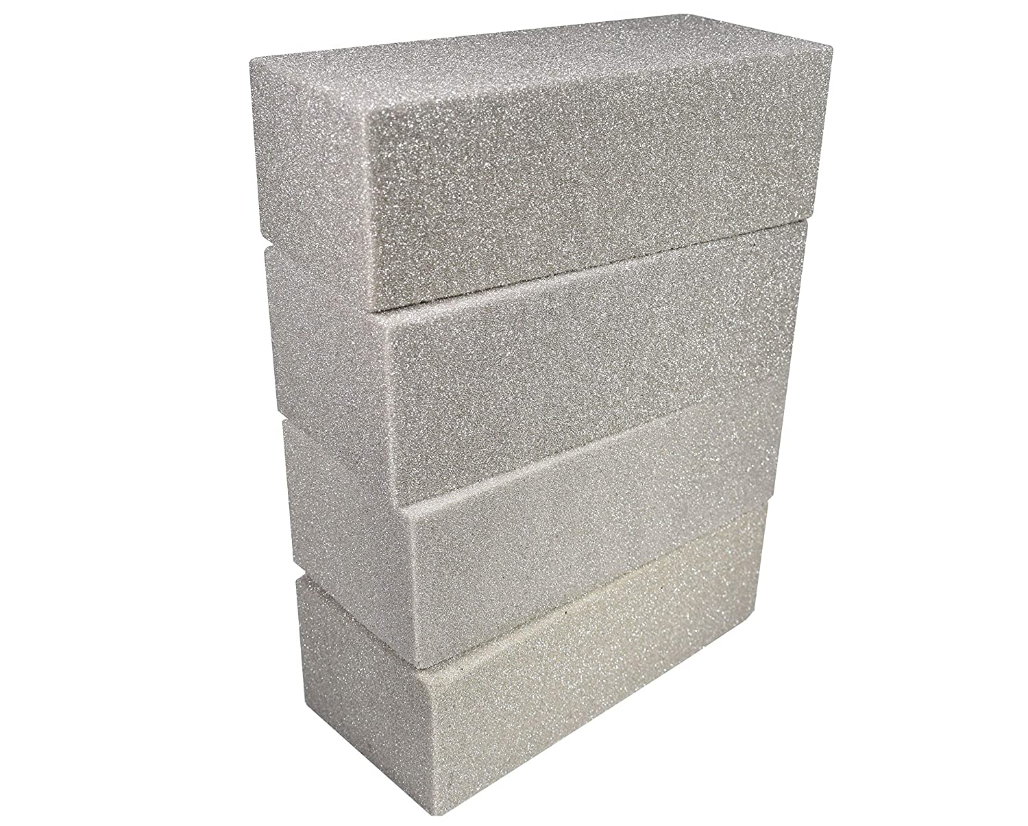 Floral Foam Bricks Extra Sturdy Desert Styrofoam Blocks Craft Base Gray Pack of 4 with 1 Pair of Gloves e-Craft