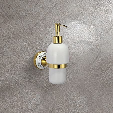 Victorian Style Gold Brass Wall Mounted Soap Dispenser Amazon Co Uk Kitchen Home