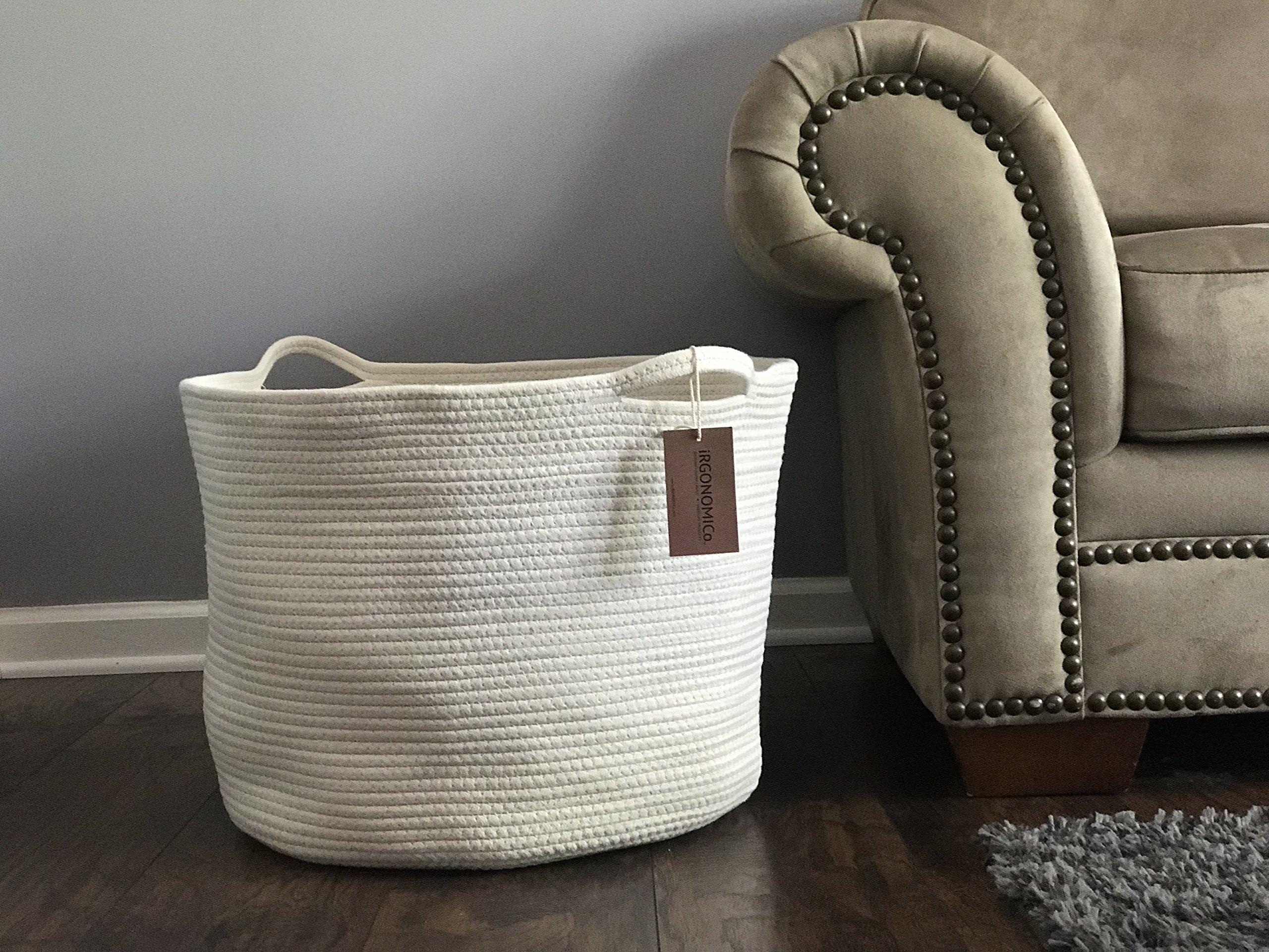 57cf7eb8b327 Details about iRGONOMICo Cotton Rope Storage Baskets XXXL: Extra Large  Cotton Rope Basket