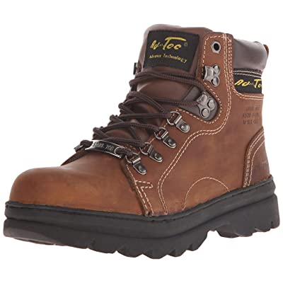 "AdTec Women's 6"" Steel Toe Work Boot Brown Work Boot: Shoes"
