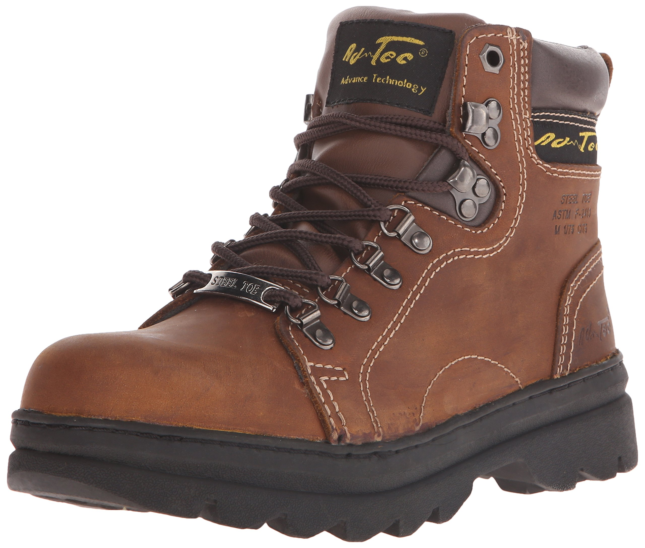 Adtec Women's 6'' Steel Toe Work Work Boot, Brown, 10 M US