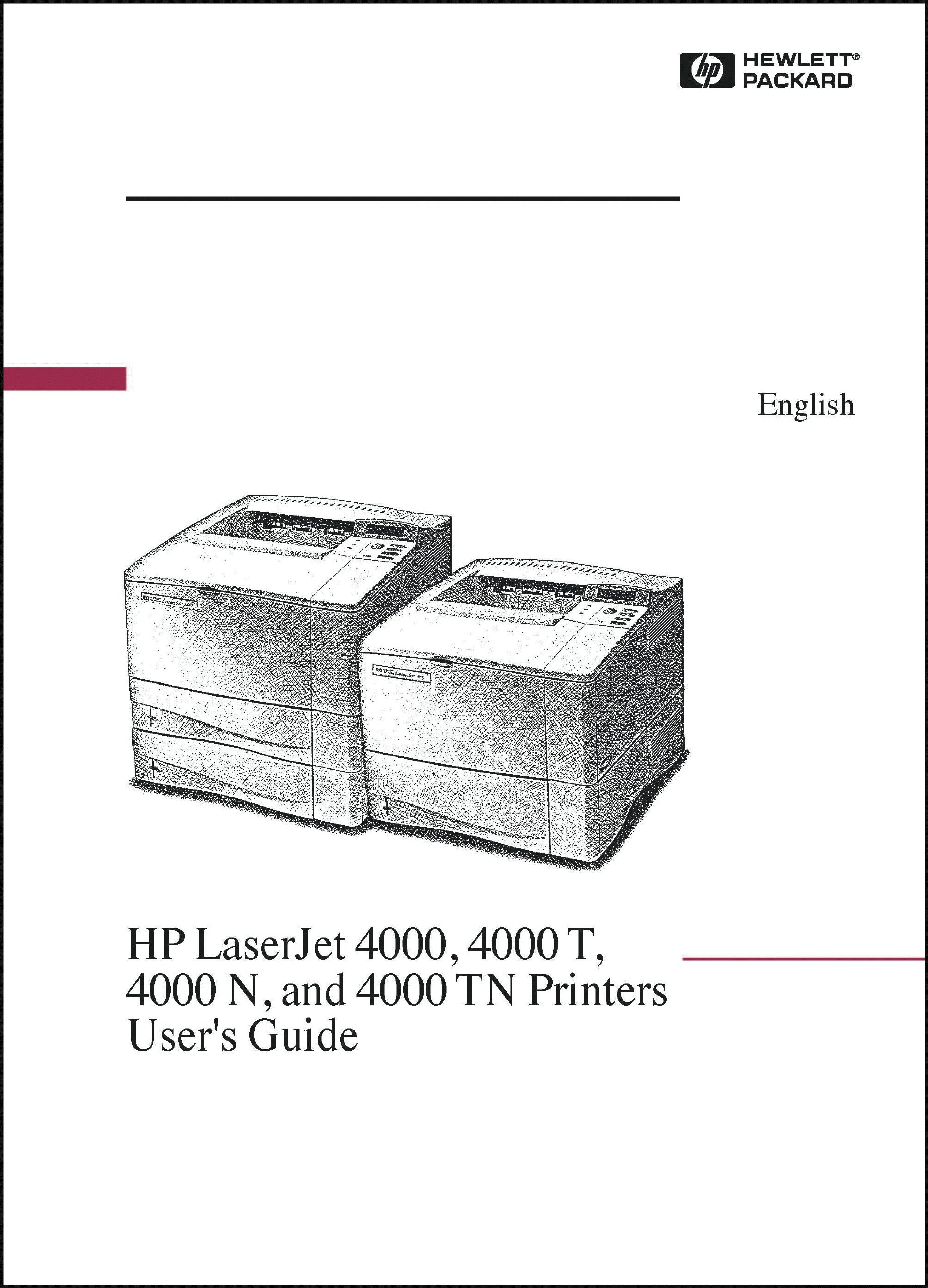 hp laserjet printer 4000 4050 194 page user s guide manual hp rh amazon com Where to Find Model Number HP LaserJet 4000 Where to Find Model Number HP LaserJet 4000