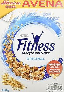 Cereales Nestlé Fitness Original Copos de trigo integral, arroz y avena integral tostados - 12…