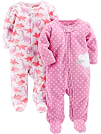 Simple Joys by Carter's baby-girls 2-pack Fleece Footed Sleep and Play