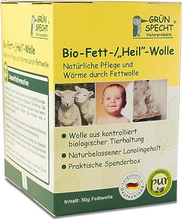 50/g rohwolle gr/ünspecht 638/ Beige KBT lana de oveja con alto contenido de lanolina de la piel y Baby Cuidado /00/bio de grasa lana