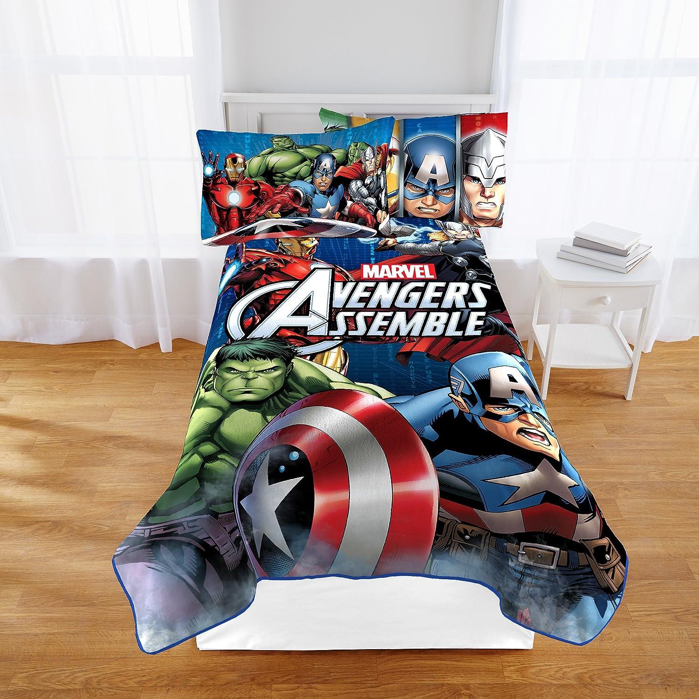 Amazoncom Marvel Jf25773Cd Avengers Classic Halo Plush Twin Blanket, 62