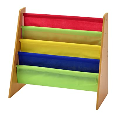Muscle Rack KBO251124-BC Freestanding Kids Book Rack, Natural/Multi Color: Industrial & Scientific
