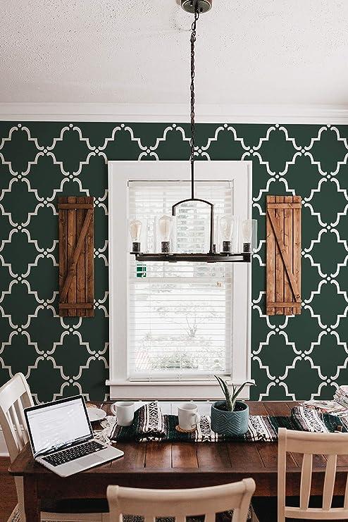 Royal Design Studio Moorish Trellis Wall Stencil For Diy Painting Designer Wallpaper Look