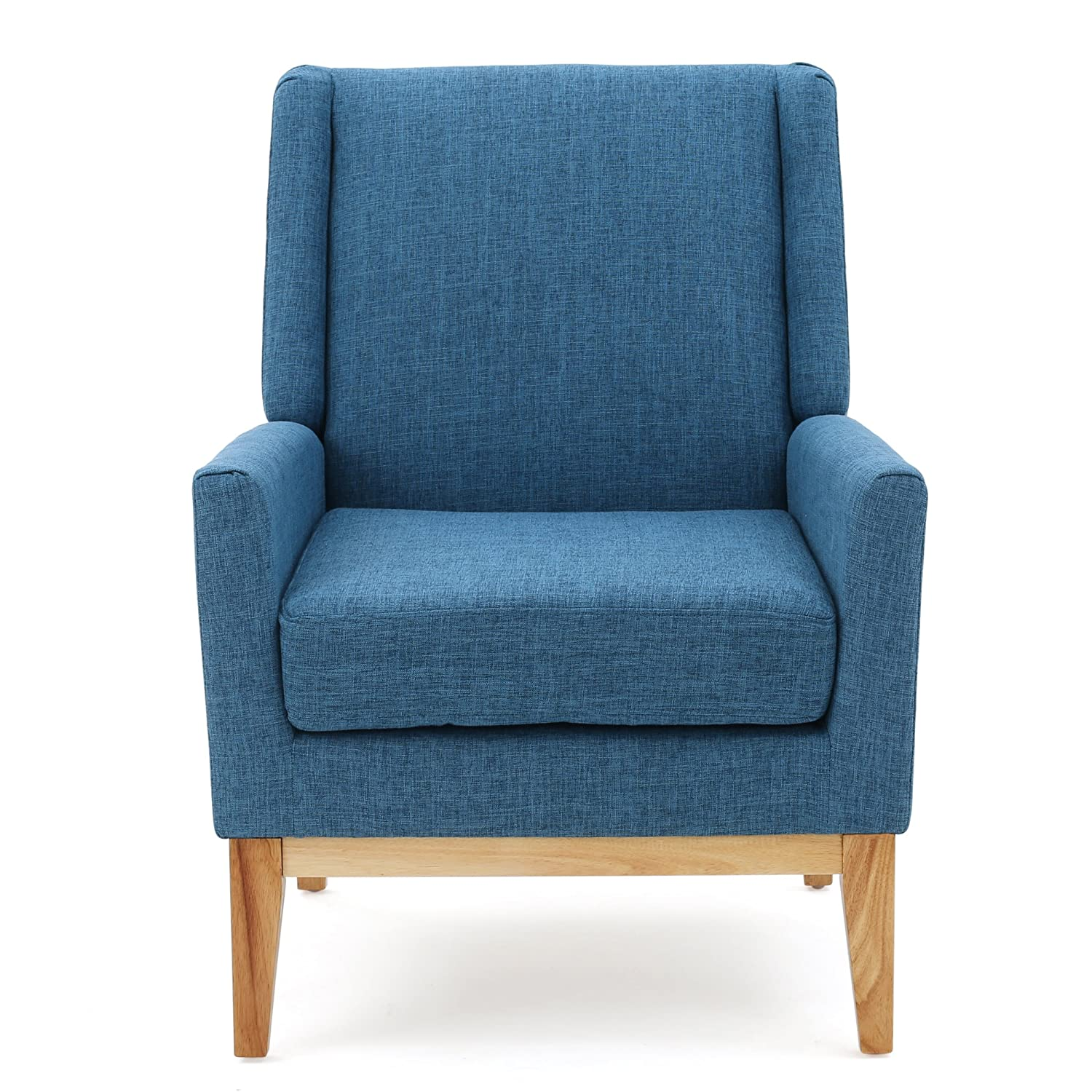 Amazon Archibald Mid Century Modern Fabric Accent Chair Blue