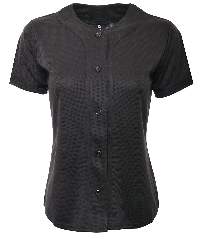 4cd9d6eddc6 Top11  YoungLA Women Baseball Jersey Plain Button Down Shirt Tee 420