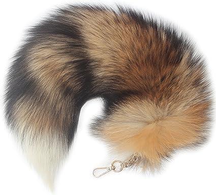 Amazon.com: Chunxiao - Llavero de piel de zorro con borlas ...