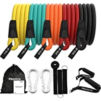 PROIRON Resistance Bands Set Fitness 14 Pieces with Handles, Door Anchor, Ankle Straps, Training Manual and Carrying Bag