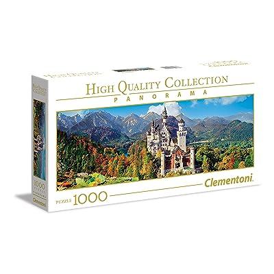 Clementoni High Quality Collection Panoramique Puzzle - Neuschwanstein - 1000Pièces, 39438, Multi-Colour
