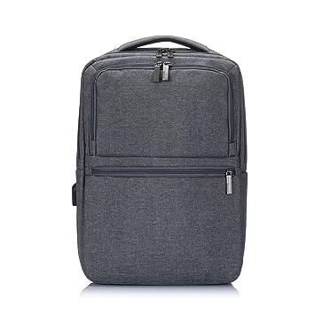 Y master Nylon wasserdichter Laptoptoprucksack 15.6 Zoll für Business, Uni, Schule, Grau