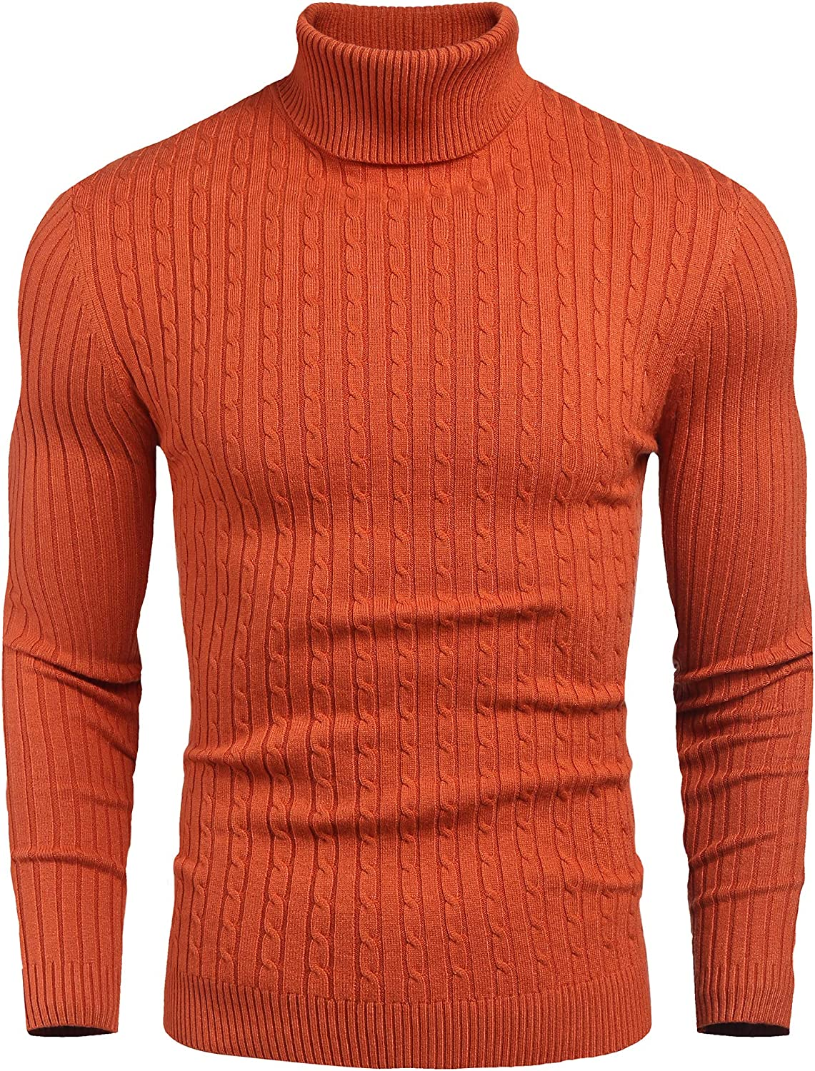 Nine Bull Mens Slim Fit Turtleneck Sweater Cable Knit Thermal Pullover Sweater At Amazon Men S Clothing Store