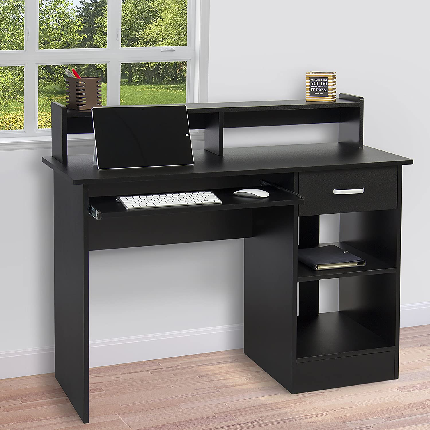 Amazon.com: Best Choice Products Computer Desk Home Laptop Table College  Home Office Furniture Work Station Blk: Home U0026 Kitchen