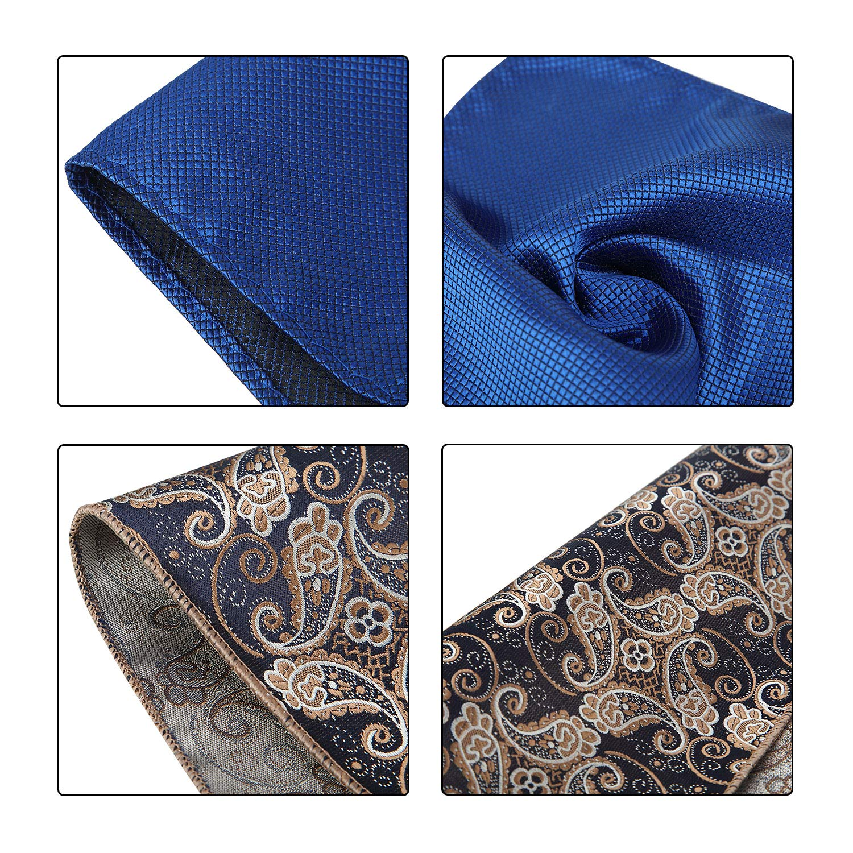 47 Pieces Men Pocket Square Handkerchief Soft Colored Hankies for Party Wedding