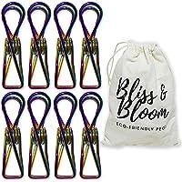 BLISS&BLOOM Stainless Steel Pegs (316 Marine Grade) Multi-Purpose Pegs (3 Colours) | 40 PACK + STORAGE BAG | - 5.8cm…
