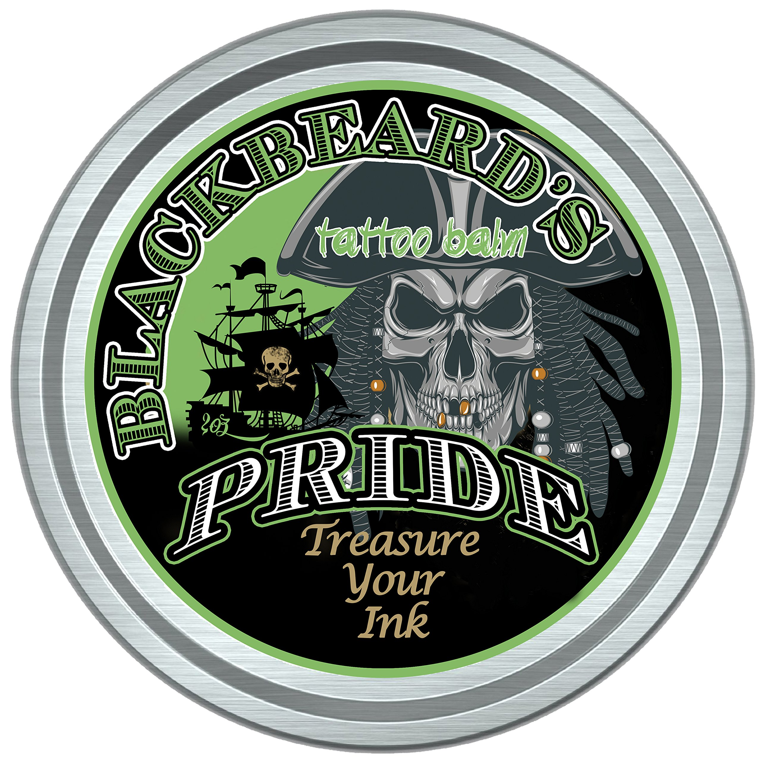 Blackbeard's Pride Tattoo All natural Before and After care Balm/Salve-Promotes Quick Healing-Revives Old Ink, Moisturizes Skin
