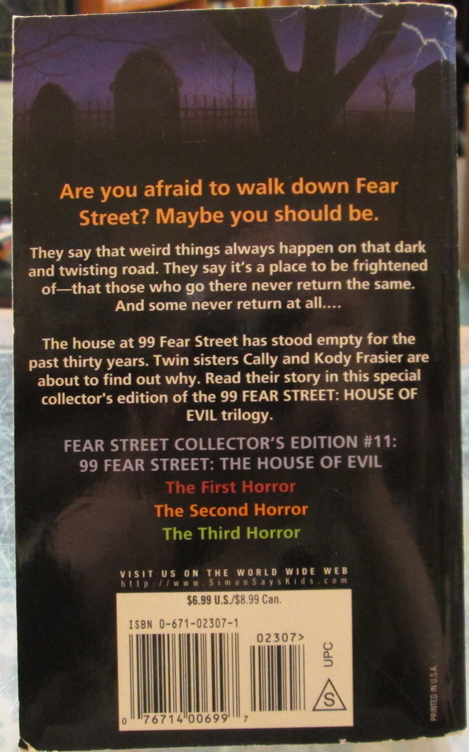 The Third Horror (fear  Street Collector's Edition #11): R L Stine: 9780671023072: Amazon:  Books