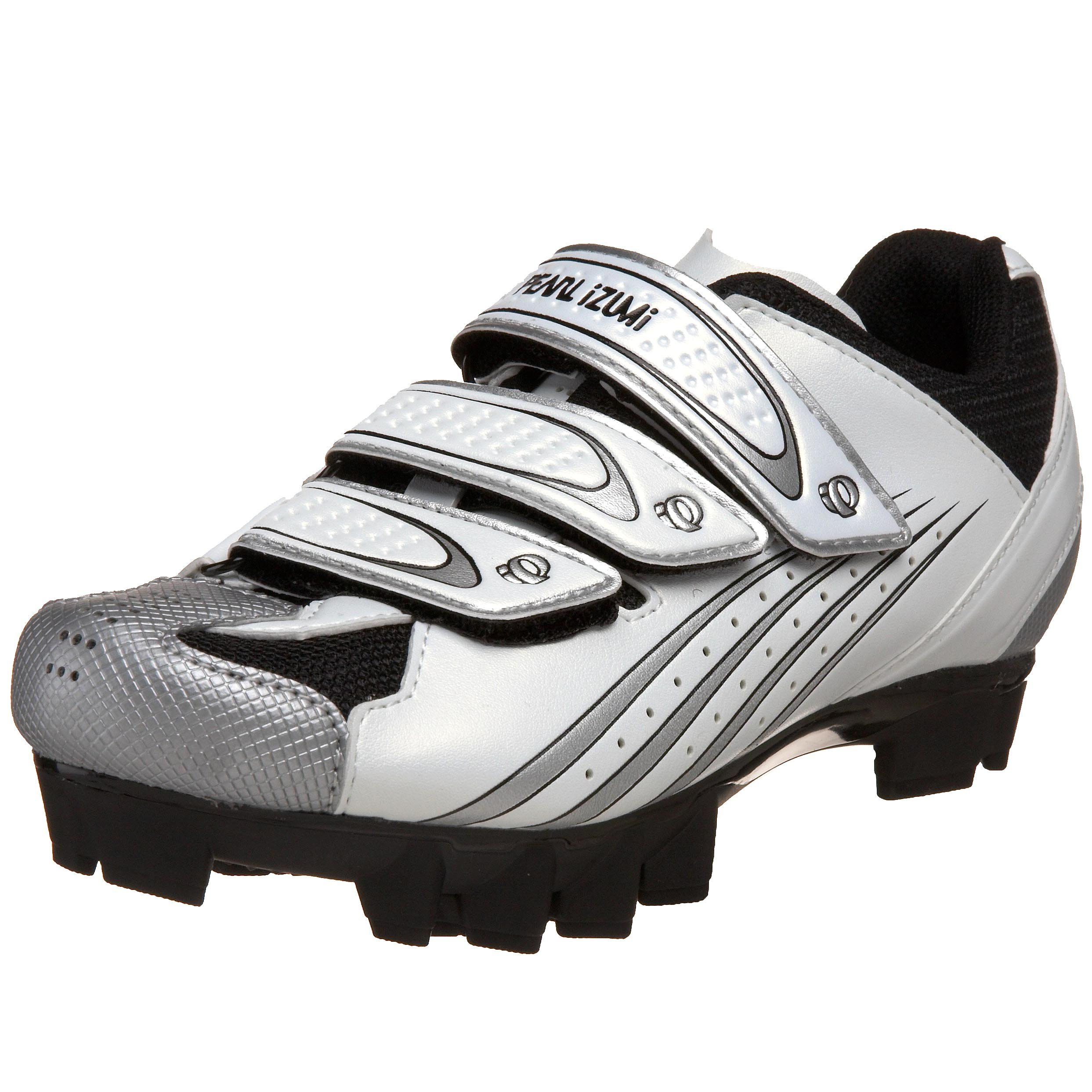 Pearl iZUMi Women's Select MTB Cycling Shoe,White/Silver,37 M EU / US Women's 5.5 M