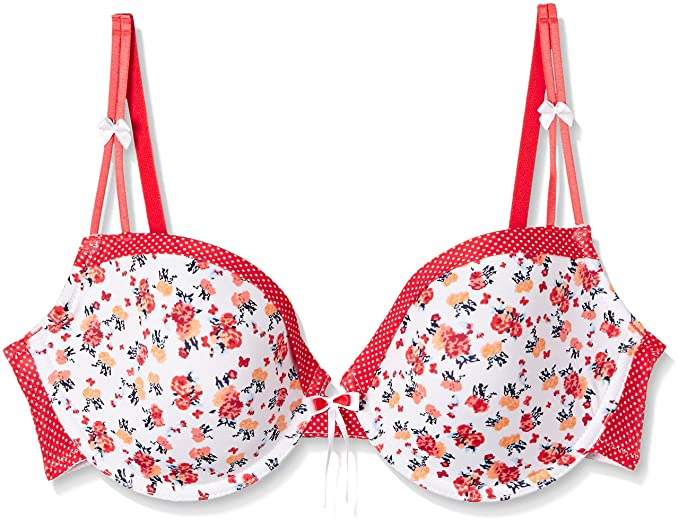 509de28d0c Enamor Padded Wired T-Shirt Plunge Bra (F060 Nautical Floral Print 32C)