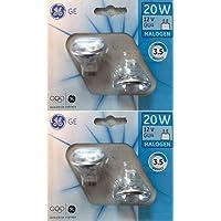 4x GE (General Electric) 20W 12V halogène dichroïques LED GU4MR11, basse tension compatibles avec variateur d'intensité Réflecteur Spot GU 4ampoules, Faisceau froid, 3,5ans de vie, 26° angle de faisceau/flood, M262