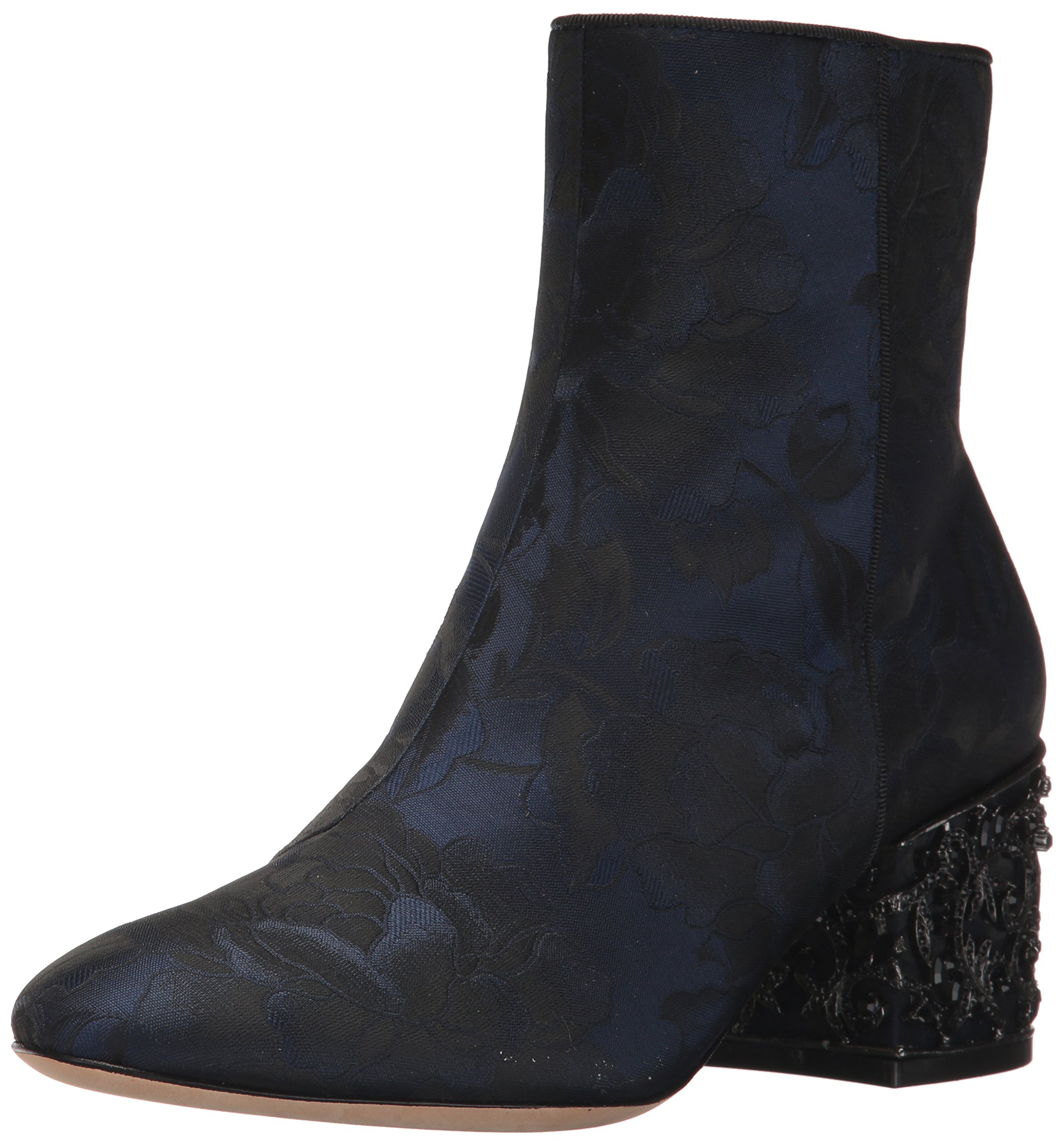 Badgley Mischka Women's Martha Ankle Boot, Midnight Brocade, 7.5 M US