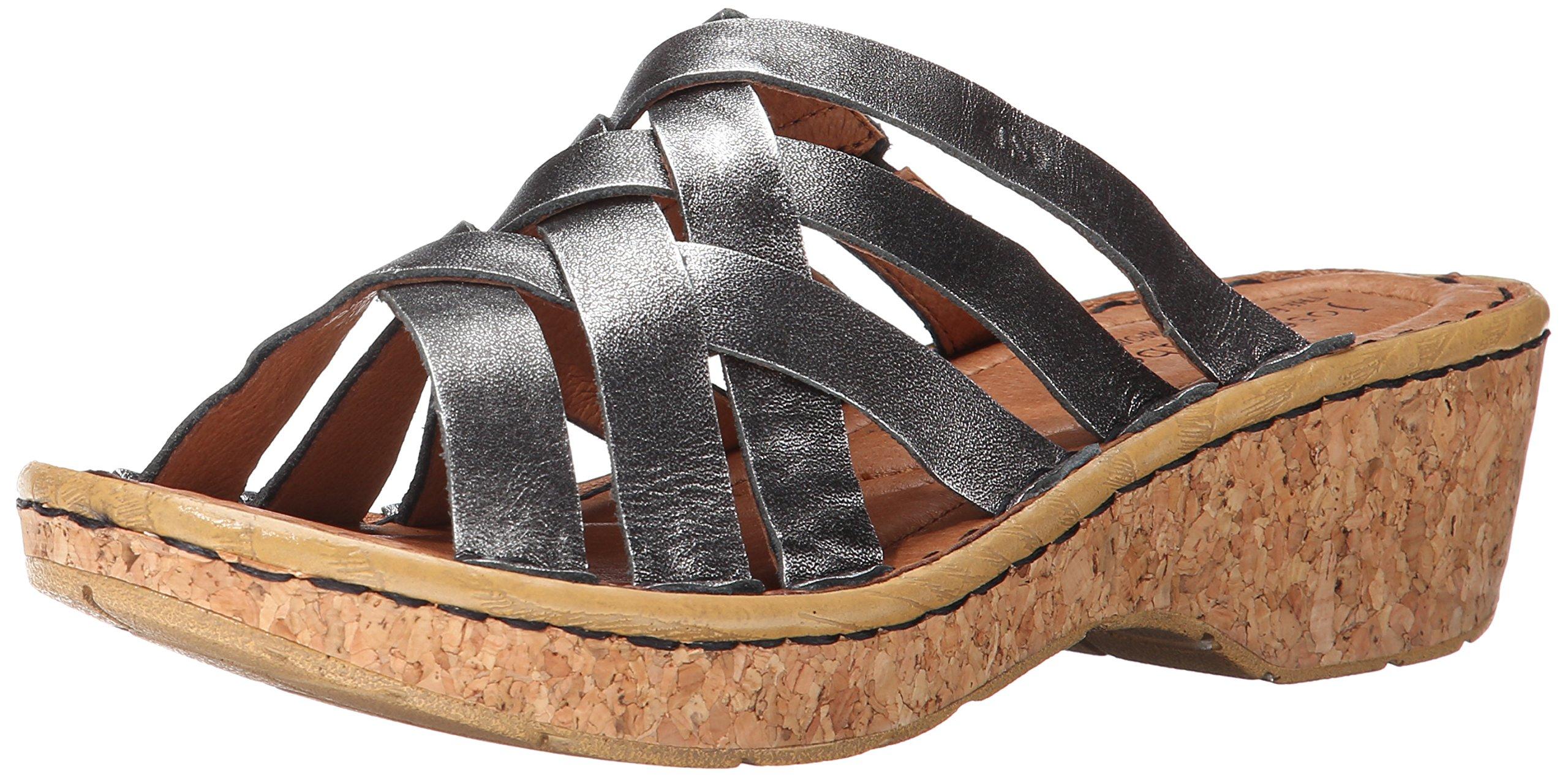Josef Seibel Women's Kira 11 Platform Sandal, Basalt Antik Metallic, 36 BR/5-6 M US