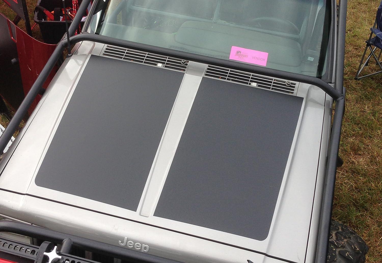 Amazoncom Jeep Cherokee XJ Hood Blackout Matte Black - Jeep hood decalsmatte black jeep hood decal