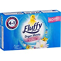 Fluffy Dryer Sheets Field Flowers, 40 Pack