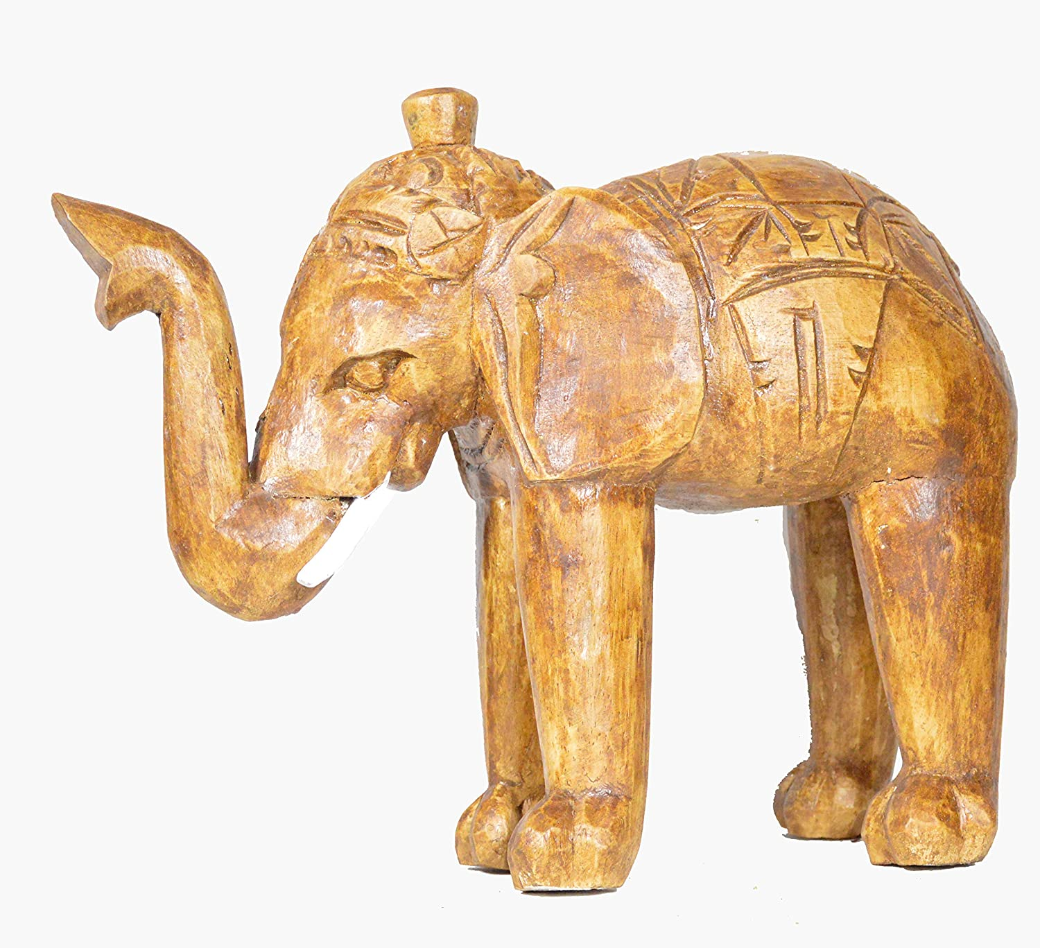 Amazon.com: CLEARANCE Hand Carved Wood Elephant African India ...