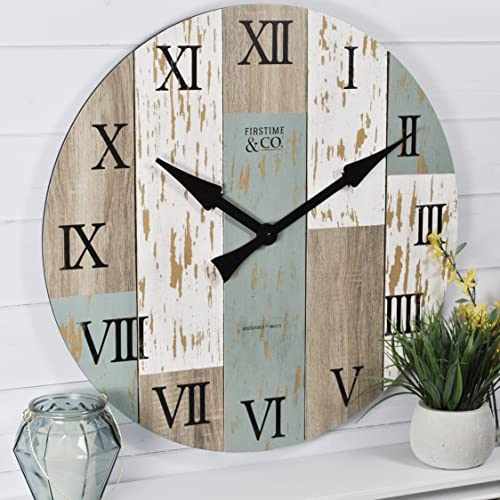 FirsTime Co. Timberworks Wall Clock, 27 , Multicolor