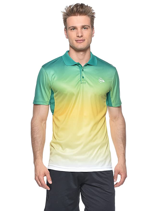 Dunlop Vestir Men-Polo, Hombre, Verde/Giallo/Bianco, Small: Amazon ...