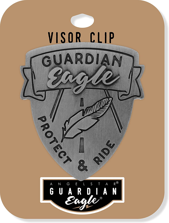 AngelStar 17422 Guardian Eagle Visor Clip Protect /& Ride Pewter